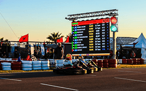 connect your external devices, lights and flags on the Apex Timing go-kart software