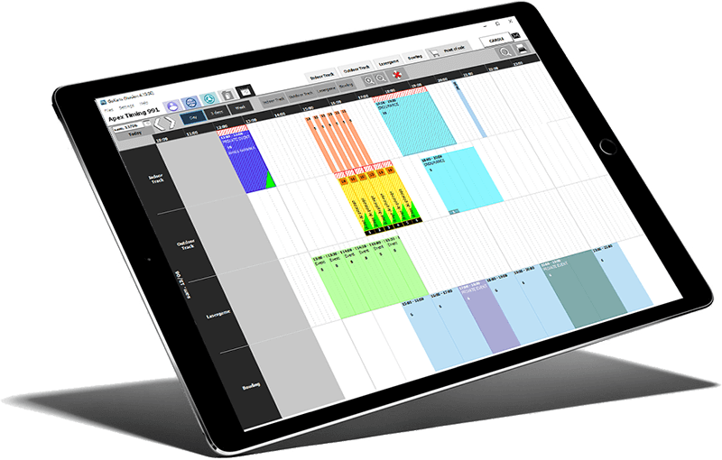 Easily manage your multi-activity calendar with Apex Timing commercial management software